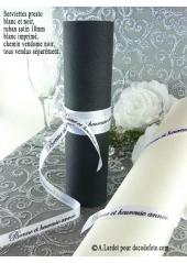 10m Ruban 10mm satin BONNE ET HEUREUSE ANNEE blanc
