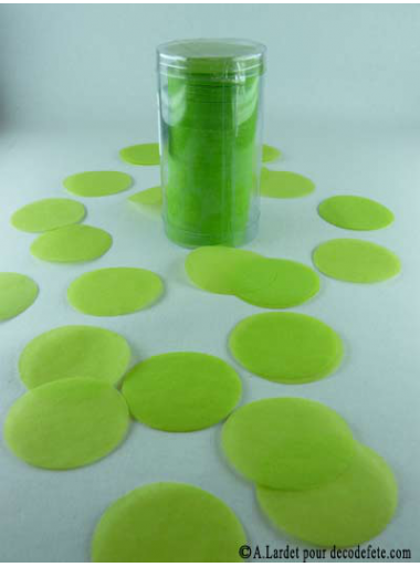 Confettis rond vert anis