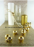 3M chemin de table Paillettes or