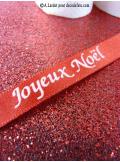 3M chemin de table paillettes rouge