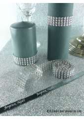 1.80M Ruban imitation STRASS 2cm Argent