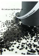 45g Paillettes Hexagonales noires