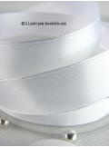 25m Ruban 15mm satin blanc
