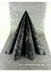 25 Serviettes HARMONY noir