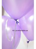 50 ballons violet nacré