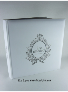 1 livre d'or Just Married blanc