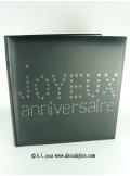 1 livre d'or JOYEUX ANNIVERSAIRE noir