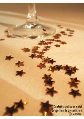 Confettis mini étoiles or