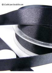 25m Ruban 15mm satin noir