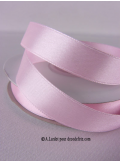 25m Ruban 15mm satin rose