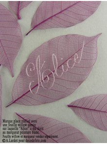 20 Feuilles willow lilas