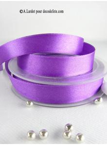 25m Ruban 15mm satin violet