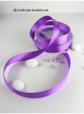 25m Ruban 15mm satin violet