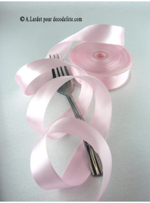 25m Ruban 25mm satin rose