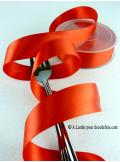 25m Ruban 25mm satin rouge