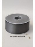 25m Ruban 38mm satin gris anthracite