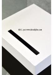 1 Urne carrée blanc et noir