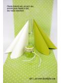 5M Chemin de table PLUMETIS vert anis