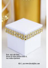 1.80M Ruban imitation STRASS 2cm Or