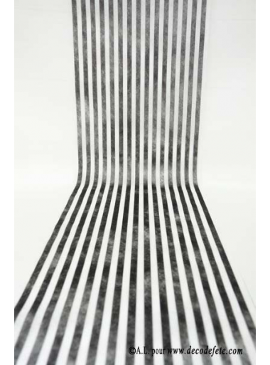 5M Chemin de table RAYURE noir