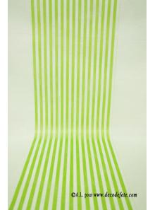 5M Chemin de table RAYURE vert anis