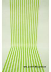 5M Chemin de table BAYADERE vert anis
