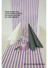5M Chemin de table BAYADERE violet