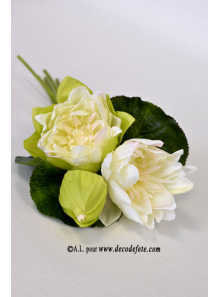 1 Bouquet de Lotus ECRU