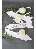 5 pancartes flèche blanc