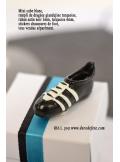 8 stickers chaussure de football noir