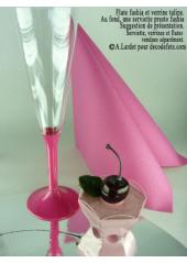 10 Flutes à champagne fushia