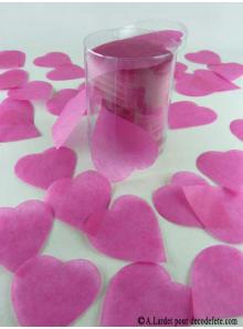 Confettis coeur fushia