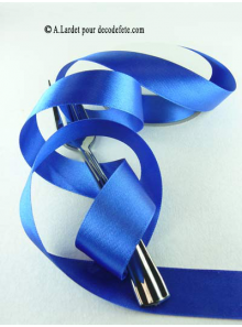 25m Ruban 25mm satin bleu roy
