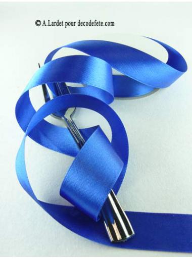 25m Ruban 25mm satin bleu roy