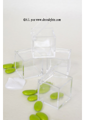 4 Boites cube transparent