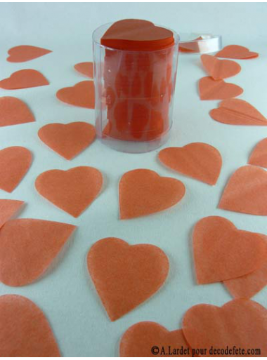 Confettis coeur orange