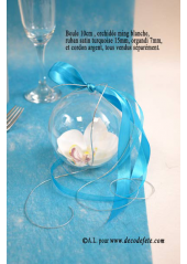 1 Boule transparente 10cm