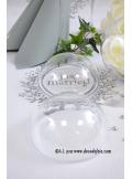 1 Boule transparente 14cm