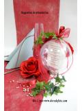 1 Boule transparente 16cm