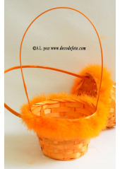1 Panier duvet orange
