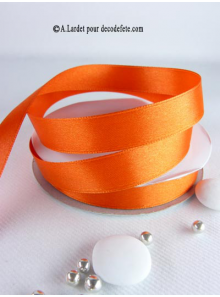 25m Ruban 15mm satin orange