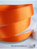 25m Ruban 15mm satin orange