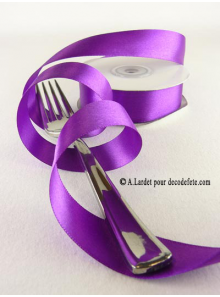 25m Ruban 25mm satin violet