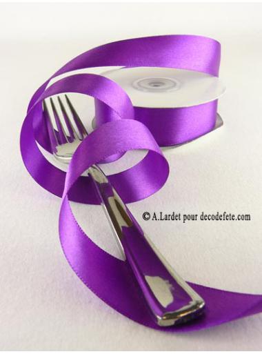 25m Ruban 25mm satin violet