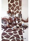5M Chemin de table Girafe chocolat