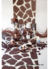 5M Chemin de table Girafe chocolat