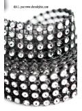 1.80M Ruban imitation STRASS 2cm Noir