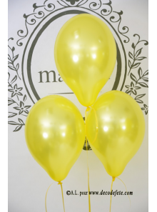 6 ballons jaune nacré