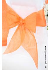 6 Noeuds orange pour housse de chaise