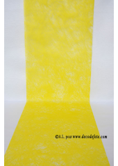 10M Chemin de table FIBRE jaune